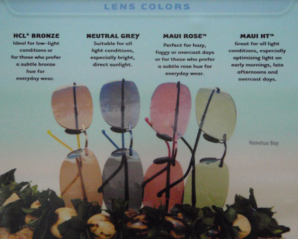 Maui Jims Lens Colors